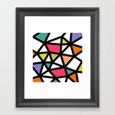 White lines & colors pattern #2 Framed Art Print