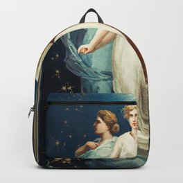 Christmas cards depicting angels stars women the moon and decorative s from The Miriam And Ira D Wal Backpack