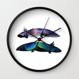 GALAXY STARRY NIGHT AXOLOTL ARTWORK Wall Clock