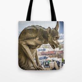 Grotesque ( Gargoyle ) over Paris Tote Bag