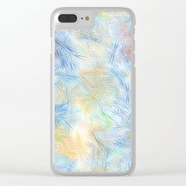 Tangled Blue Fireworks Clear iPhone Case