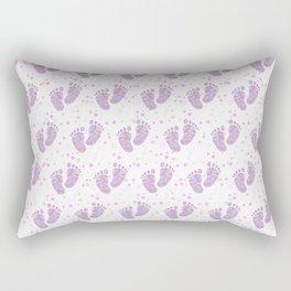 Baby feet background 8 Rectangular Pillow