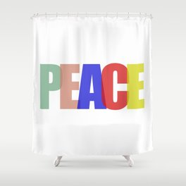 Peace (Color) Shower Curtain