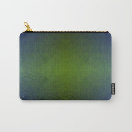 Black Blue Green Ombre Flames Horizon Carry-All Pouch