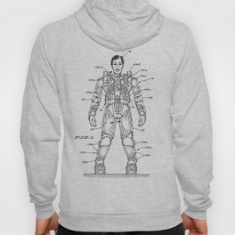 vintage action figure patent schematic Hoody