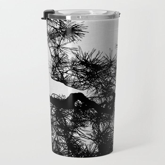 Pine Tree Black & White Travel Mug