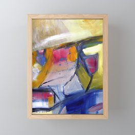 Ferndale i. Bright, abstract landscape Framed Mini Art Print
