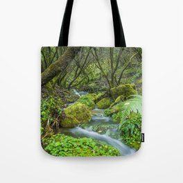 Deep in the green forest Tote Bag