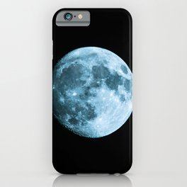 Moon on black background – Space Photography iPhone Case