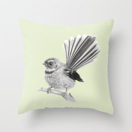 Piwakawaka   NZ Fantail Throw Pillow