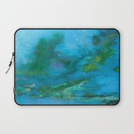 Light Blue Monet´s Theme of Waterlilies Laptop Sleeve