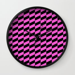 Race Car in Bright Pink Wall Clock