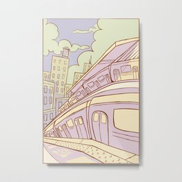 Sunset on the F Line Metal Print