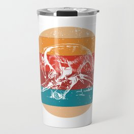Vintage Anteater Lover Retro Style Silhouette Gift Travel Mug