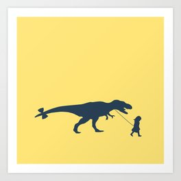 Walking my beast Art Print