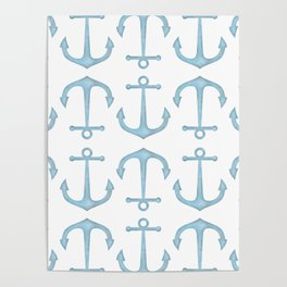 Anchor Pattern Poster