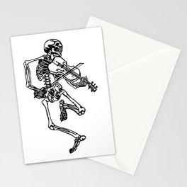 Skeleton Playing Violin Stationery Cards