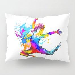 Hip hop dancer jumping Pillow Sham