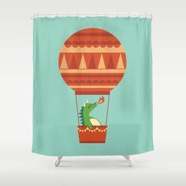 Dragon On Hot Air Balloon Shower Curtain