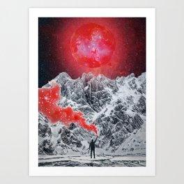 Red Glitter Smoke by GEN Z Art Print