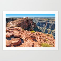 Looking Back from Guano Point Art Print