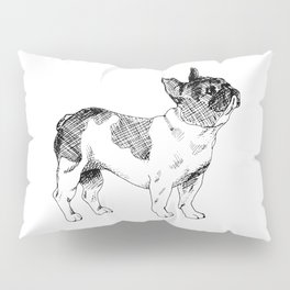 French Bulldog Ink Drawing Pillow Sham