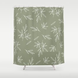 Olive in Olive Shower Curtain