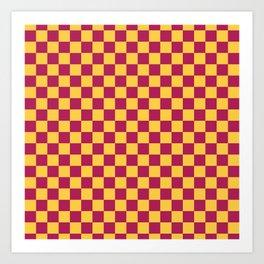 Checkered Pattern VII Art Print