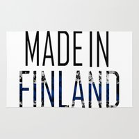 finland Area & Throw Rugs featuring Made In Finland by VirgoSpice