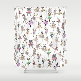 Animal Square Dance Hipster Ballerinas Shower Curtain