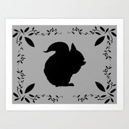 Squirrel shadow   Art Print