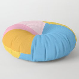 Cute Colorful Diagonal Color Blocking Floor Pillow