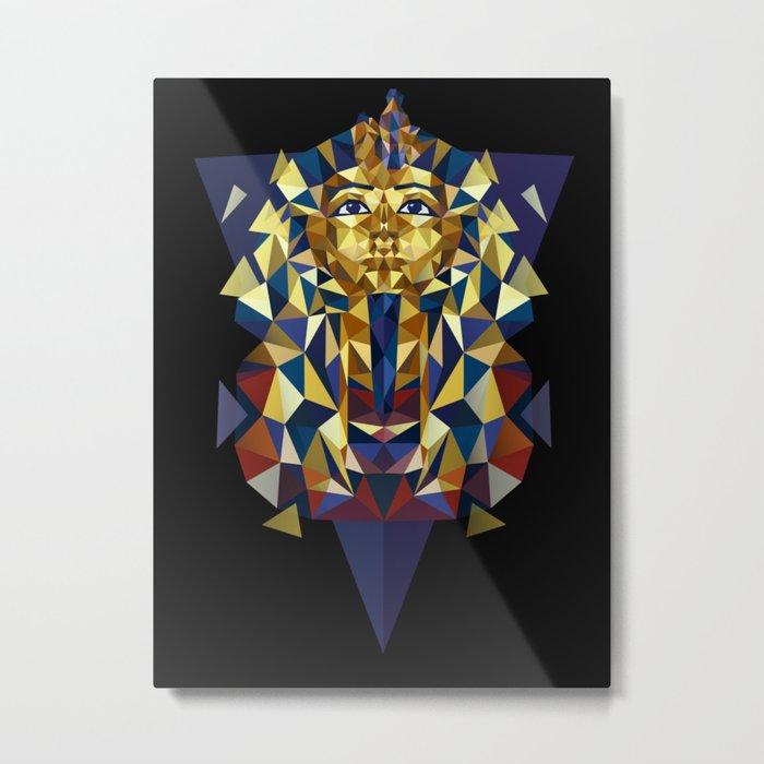 Golden Tutankhamun - Pharaoh's Mask Metal Print