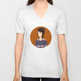 Tegan and Sara: Tegan portrait #3 Unisex V-Neck