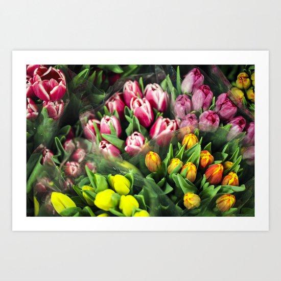 Tulips At Market Art Print