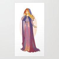 Redesigned Art Nouveau Aurora Art Print