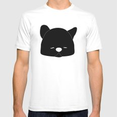 Pussy Gato Black Mens Fitted Tee White MEDIUM