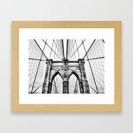 Brooklyn Bridge x Framed Art Print
