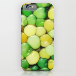 Lemon Lime Abstract iPhone Case
