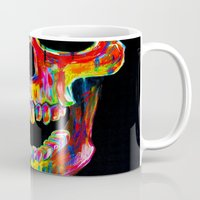 skull Mugs featuring Chromatic Skull by John Filipe