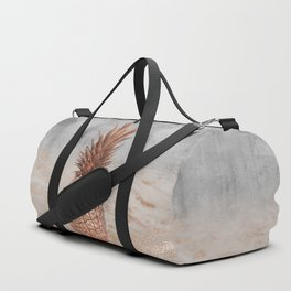 Pineapple in Glitter Marble Rose Gold And Concrete Duffle Bag