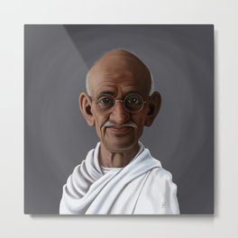 Celebrity Sunday ~ Mahatma Gandhi Metal Print