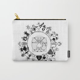 Kinky Kitty Mandala Carry-All Pouch