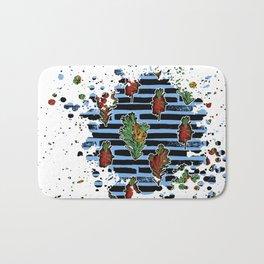 Australian Native Florals Graphic Splotch Bath Mat