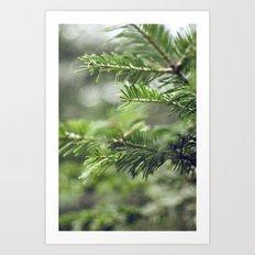 Quelque-chose de vert Art Print