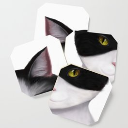 They call me the Masked Cat Coaster