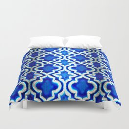 Blue Turkish Pattern Duvet Cover