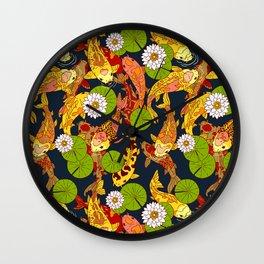 Bright Koi Wall Clock