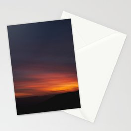 sunset in negev Stationery Cards