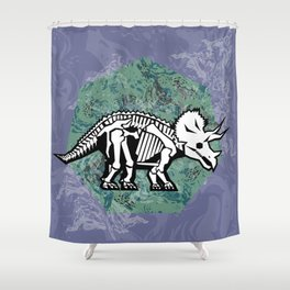 Triceratops Fossil Shower Curtain